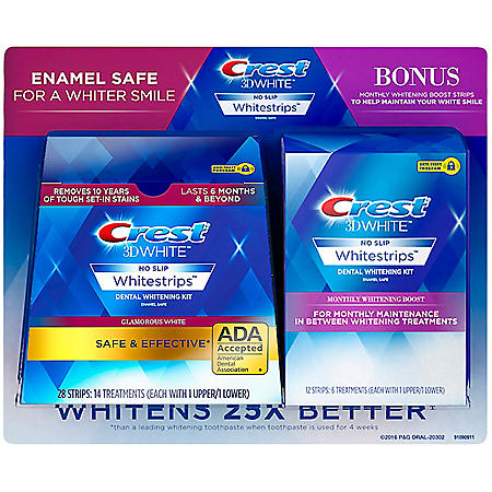 Crest 3D Whitestrips + Monthly Booster Strips (40 ct.)