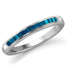 0.25 ct. t.w. Blue Diamond Band Ring in Sterling Silver