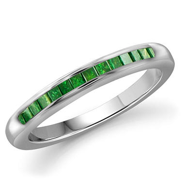 OFFLINE0.25 ct. t.w. Green Diamond Band Ring in Sterling Silver