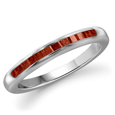0.25 ct. t.w. Red Diamond Band Ring in Sterling Silver