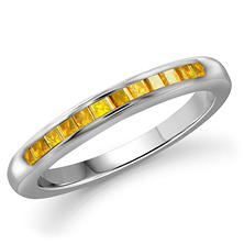 0.25 ct. t.w. Yellow Diamond Band Ring in Sterling Silver