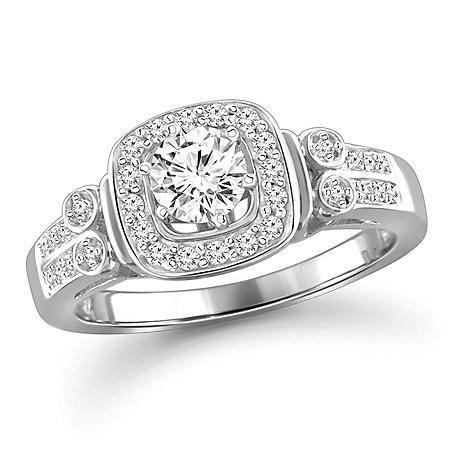 0.75 CT. T.W. White Diamond Engagement Ring in 14K White Gold