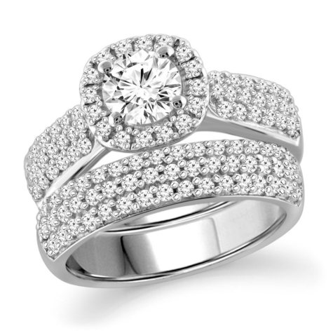 2.25 CT. T.W. White Diamond Engagement Ring in 14K White Gold