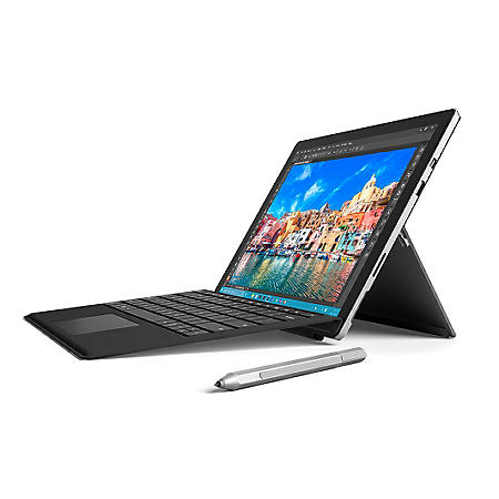 Surface Pro 4 Bundle:  Intel Core i5-6300U, 4GB Memory, 128GB SSD Hard Drive Device, Surface Pen, Surface Pro 4 Black Type Cover, Windows 10 Pro and 1 Year Office 365 Personal Subscription