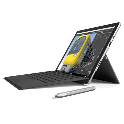 "Surface Pro 4 Bundle: Touchscreen 12.3"" Device with Intel Core i5 Processor, 4GB Memory, 128GB SSD Hard Drive, Surface Pen, Type Cover, Windows 10 Pro"