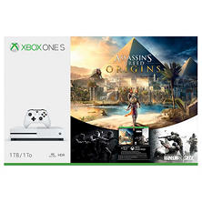 Xbox One S 1TB Console Bundle with Assassins Creed Origins and Rainbow Six Siege