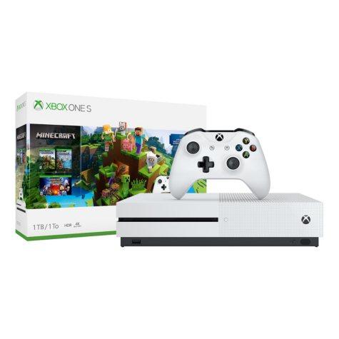 Xbox One S 1TB Minecraft Console Bundle