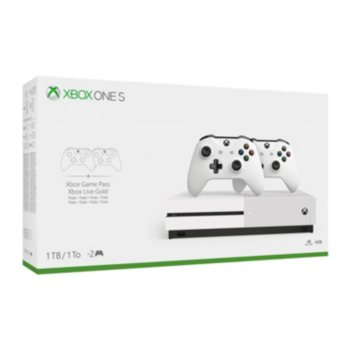 Microsoft Xbox One S 1TB Bundle with 2 Controllers