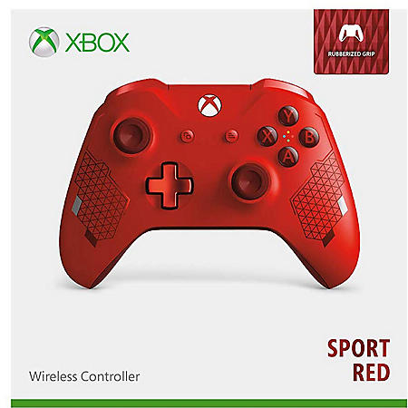 Microsoft Xbox One Wireless Controller, Sport Red