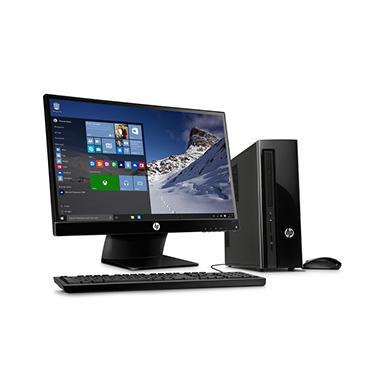 Hp Slimline Desktop Bundle With 23 Monitor Hp410 017cb Intel I3 8gb