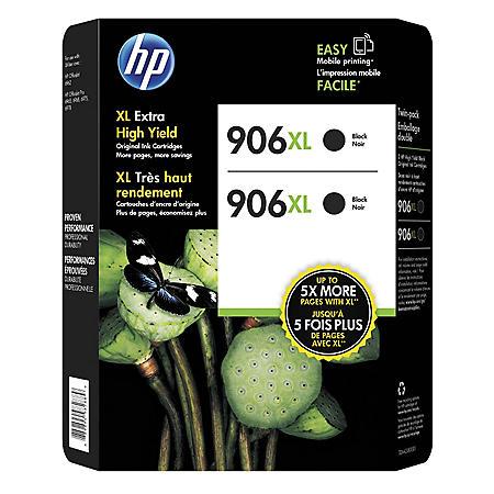 HP 906XL High-Yield Original Ink Cartridge, Black (2 pk.)