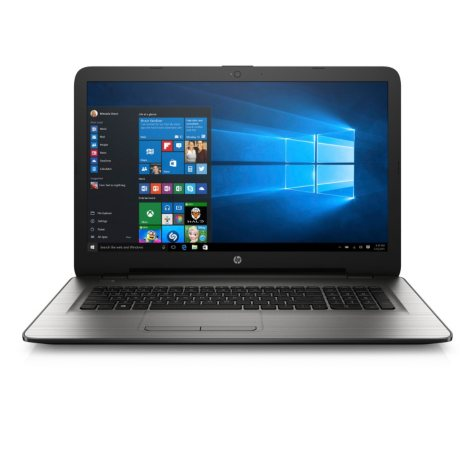 "HP 17-x020nr 17.3"" HD Notebook, Intel Core i3-5005U, 8GB RAM, 1TB HDD, Intel HD Graphics 5500, Windows 10, turbo silver"