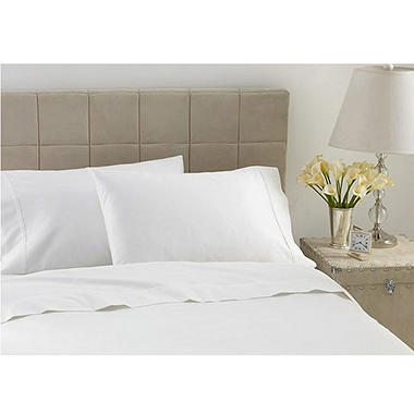 600TC Hotel Luxury Collection Striped Ivory Sheet Set - Cal King