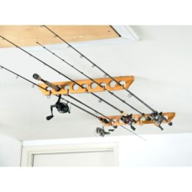Oak Ceiling Rack, 9 Capacity
