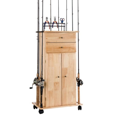 Elite 2-Drawer Fishing Gear Cabinet with Lacquer Finish