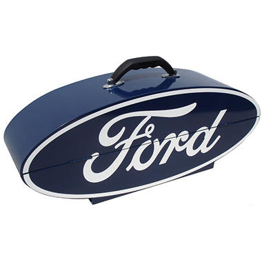 GOBOXES Ford Oval Shape Metal Box - Blue/White
