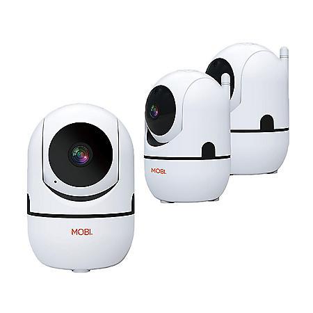 MobiCam HDX Smart HD Wi-Fi Pan and Tilt Home Monitoring Camera, 3-Pack