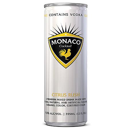 Monaco Cocktail Citrus Rush Vodka Cocktail (355 ml can, 4 pk.)