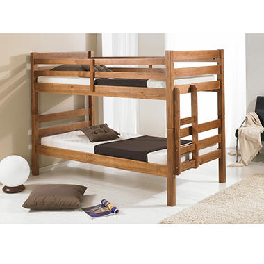 Woodland Honey Twin Over Twin Bunk Bed Sam S Club