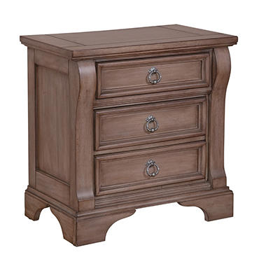Caroline 3-Drawer Nightstand