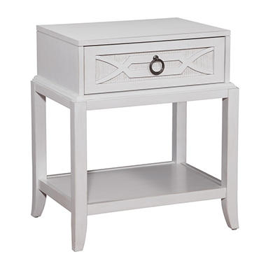 Glenda 1-Drawer Nightstand, Antique White