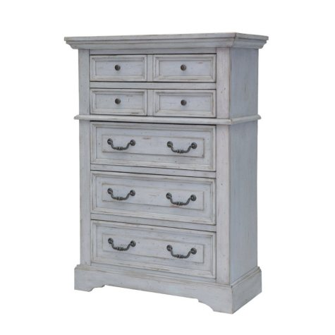 Highland Creek 5-Drawer Chest, Weathered Gray