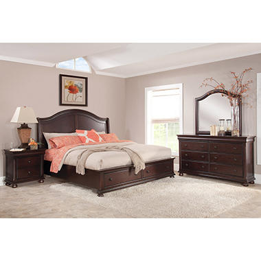 furniture finish bedroom collection import concord espresso by en of set bed platform america