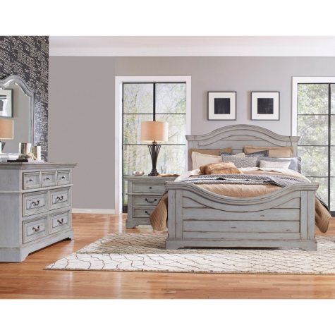 Highland Creek Bedroom Furniture Set, Weathered Gray (Assorted Sizes)