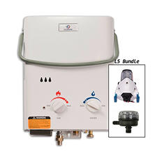 Eccotemp L5 Portable Outdoor Tankless Water Heater with Flojet Pump and Strainer