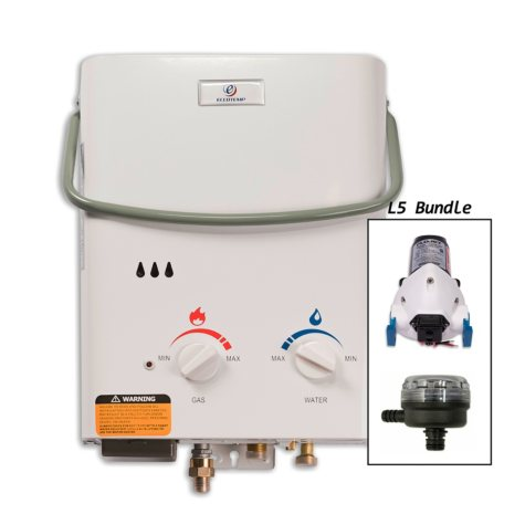 Eccotemp L5 Portable Outdoor Tankless Water Heater with EccoFlo Pump and Strainer