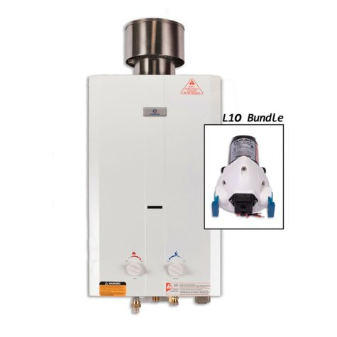 Eccotemp L10 Portable Outdoor Tankless Water Heater and Flojet Pump