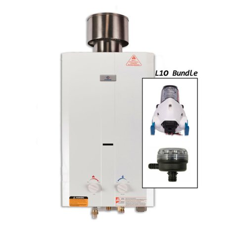 Eccotemp L10 Portable Outdoor Tankless Water Heater with EccoFlo Pump and Strainer