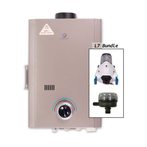 Eccotemp L7 Tankless Water Heater with EccoFlo Pump & Strainer