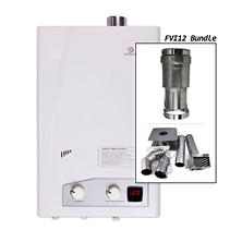 Eccotemp FVI12-NG Natural Gas Tankless Water Heater Horizontal Bundle