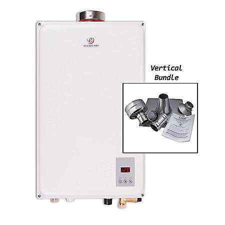 Eccotemp 45HI 6.8 GPM Indoor Natural Gas Tankless Water Heater with Vertical Vent Kit