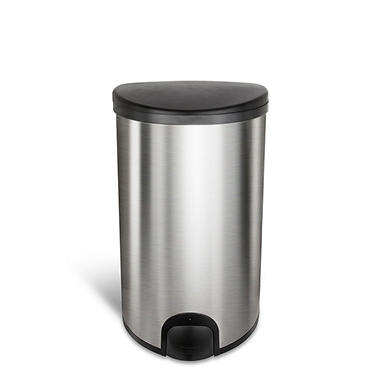 Nine Stars 13.2 Gallon Toe Tap Trash Can, Stainless Steel