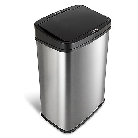 Nine Stars 13.2 Gallon Stainless Steel Motion Sensor Trash Can, Choose a Color