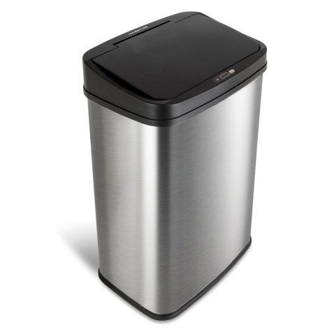 Nine Stars 13.2 Gallon Stainless Steel Motion Sensor Trash Can, Choose a Lid Color