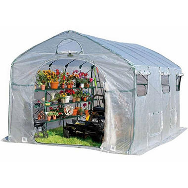 FlowerHouse Farmhouse XL Portable Greenhouse, 8' x 9' x 15'