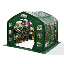FlowerHouse 9' Farmhouse Clear Pop-Up Portable Greenhouse