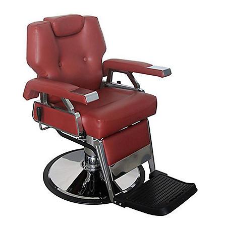 Keller Barber Chair, Burgundy