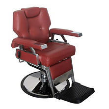Keller Barber Chair, Burgundy