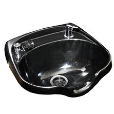 Keller Oval Plastic Shampoo Bowl with Vacuum Breaker