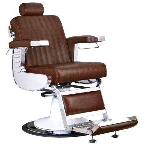 Keller Parlor Barber Chair, Chestnut Brown