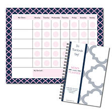 It's That Kinda Day Mom's Weekly Planner and Chore Chart Notepad Bundle (Assorted Colors)