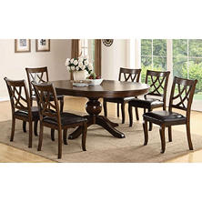 Brookfield 7-Piece Dining Set with Leaf