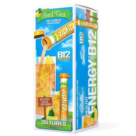 Zipfizz® Energy Drink Mix - Lemon Iced Tea (20 ct)