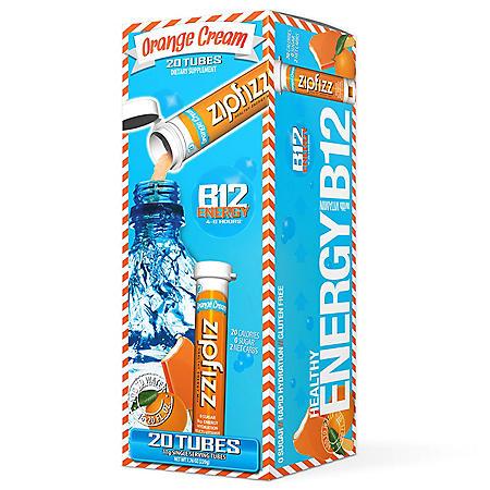Zipfizz Energy Drink Mix, Orange Cream (20 ct)