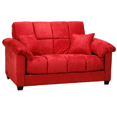 madrid futon loveseat sleeper crimson