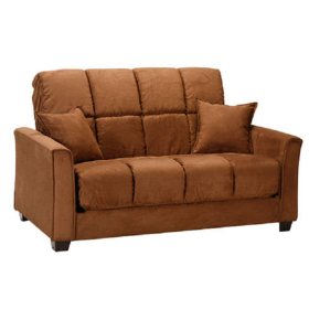 Baja Futon Loveseat Sleeper Dark Brown Sam S Club